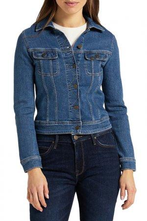 Куртка джинсовая Slim Rider Lee. Цвет: синий