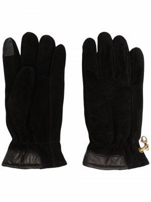 Перчатки с карабином Timberland. Цвет: черный