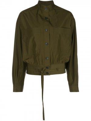 Куртка-рубашка с накладными карманами Jason Wu. Цвет: зеленый