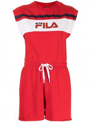 Комбинезон Henrika с логотип Fila. Цвет: красный