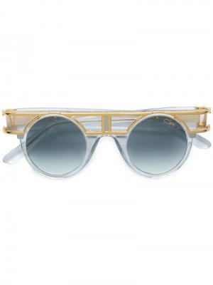 Солнцезащитные очки в круглой оправе Cazal. Цвет: белый
