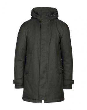 Пальто ADHOC. Цвет: зеленый-милитари