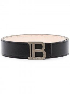 Ремень с логотипом Balmain. Цвет: черный