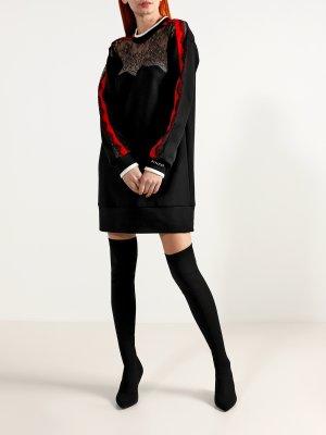 Мини-платье с длинным рукавом Pinko. Цвет: chernyy