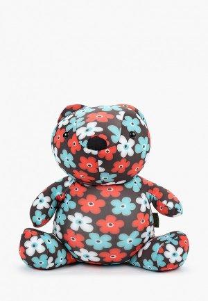 Подушка декоративная Gekoko Цветочный Мишка. Цвет: коричневый