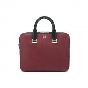 Кожаная сумка для ноутбука Dunhill. Цвет: красный
