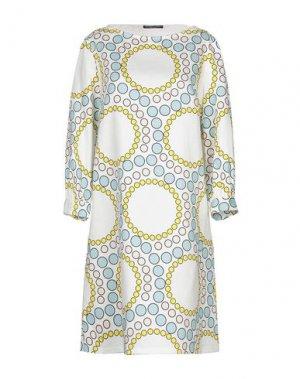 Короткое платье ANDREA TURCHI. Цвет: белый