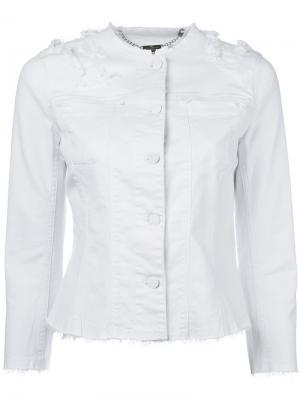 Джинсовая куртка с бахромой 7 For All Mankind. Цвет: белый