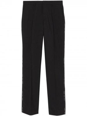 Классические строгие брюки Burberry. Цвет: черный