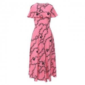 Платье-миди REDVALENTINO. Цвет: розовый