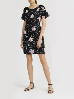 Короткое платье Armani Exchange. Цвет: cherno_belyy