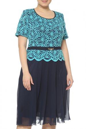 Платье CREDO. Цвет: синий, бирюзовый