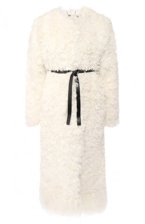 Шуба из овчины Givenchy. Цвет: бежевый