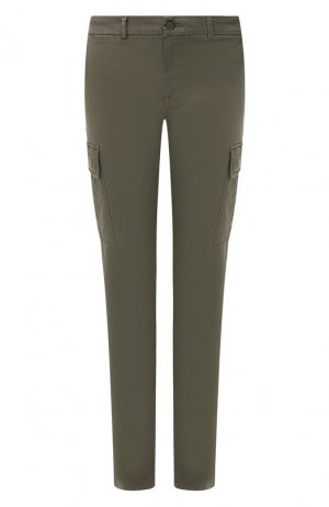 Хлопковые брюки-карго 7 For All Mankind. Цвет: хаки