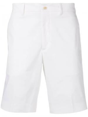 Классические шорты чинос Prada. Цвет: белый