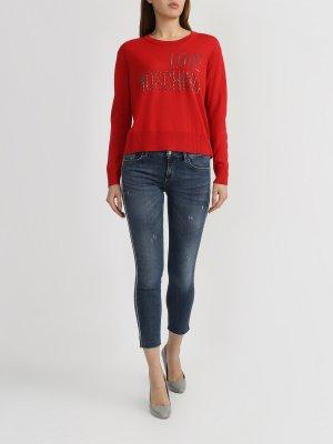Укороченные джинсы Liu Jo. Цвет: temno_siniy