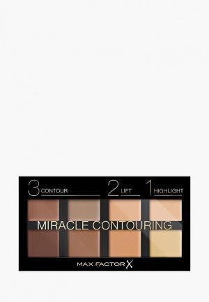 Палетка для лица Max Factor из 8 Оттенков Miracle Contouring, Тон 10 universal. Цвет: разноцветный