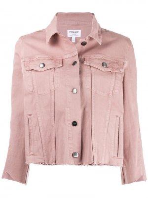 Джинсовая куртка FRAME. Цвет: розовый