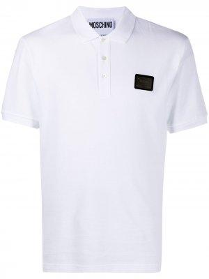 Рубашка поло с логотипом Moschino. Цвет: белый