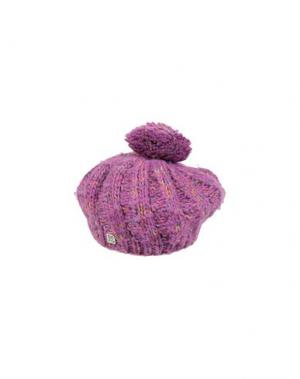 Головной убор BREKKA. Цвет: фиолетовый