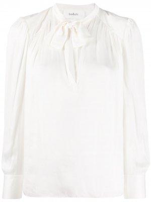 Блузка с бантом Ba&Sh. Цвет: белый
