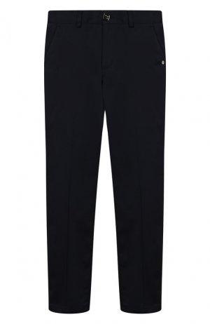 Хлопковые брюки Billionaire. Цвет: синий