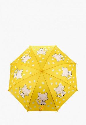 Зонт-трость Goroshek. Цвет: желтый