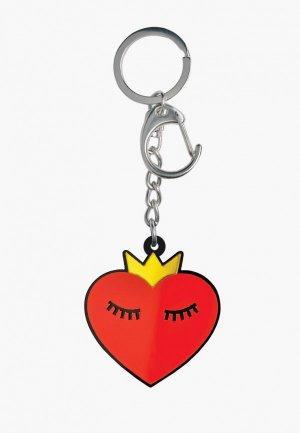 Брелок Monolama Сердце в короне. Цвет: красный