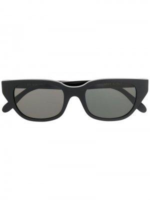 Солнцезащитные очки в трапециевидной оправе Retrosuperfuture. Цвет: черный