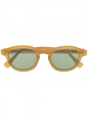 Солнцезащитные очки Bronte в круглой оправе Epos. Цвет: желтый