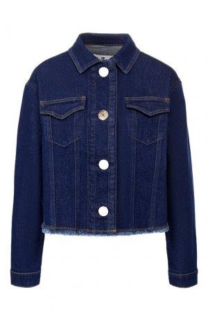 Джинсовая куртка 7 For All Mankind. Цвет: синий