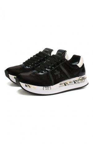 Текстильные кроссовки Conny Premiata. Цвет: чёрный