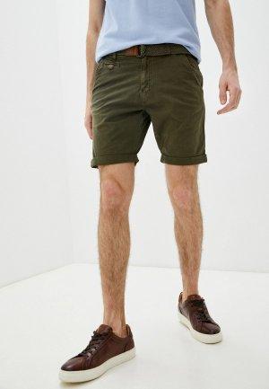 Шорты Indicode Jeans. Цвет: хаки