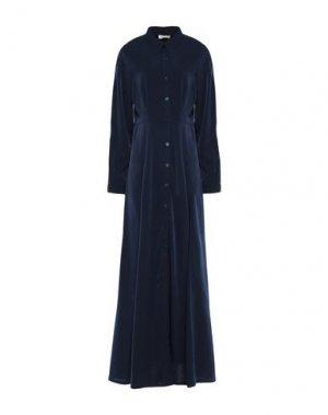 Длинное платье H2O ITALIA. Цвет: темно-синий
