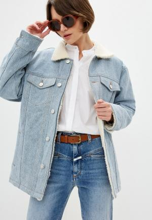 Куртка джинсовая 3x1. Цвет: голубой
