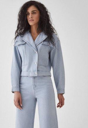 Куртка джинсовая Zarina Limited edition. Цвет: голубой