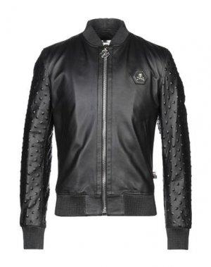 Куртка PHILIPP PLEIN. Цвет: черный