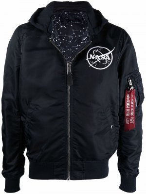 Nasa hooded reversible jacket Alpha Industries. Цвет: синий
