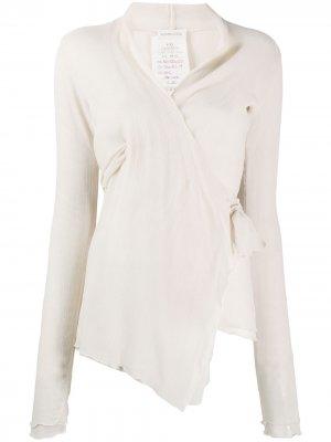 Рубашка 1990-х годов с жатым эффектом Romeo Gigli Pre-Owned. Цвет: нейтральные цвета