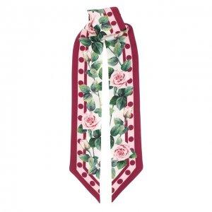 Шелковый шарф-бандо Dolce & Gabbana. Цвет: белый