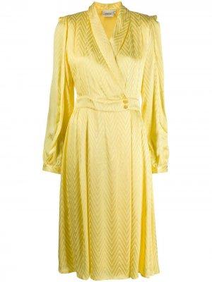 Платье Lynn с узором зигзаг Gestuz. Цвет: желтый
