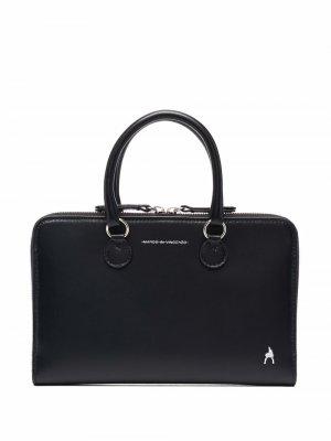 Сумка для ноутбука с логотипом Marco De Vincenzo. Цвет: черный