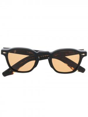 Квадратные солнцезащитные очки черепаховой расцветки Jacques Marie Mage. Цвет: черный