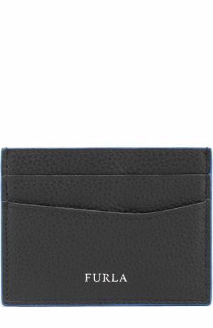 Кожаный футляр для кредитных карт Furla. Цвет: черный