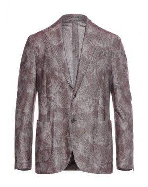 Пиджак LARDINI. Цвет: красно-коричневый