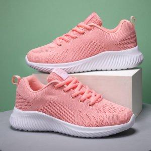 Спортивные сандалии на шнурках SHEIN. Цвет: розовые