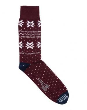 Короткие носки CORGI. Цвет: баклажанный