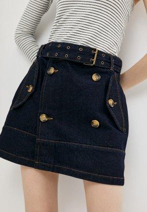 Юбка джинсовая adL. Цвет: синий