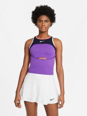 Майка женская Court Slam, размер 46-48 Nike. Цвет: фиолетовый