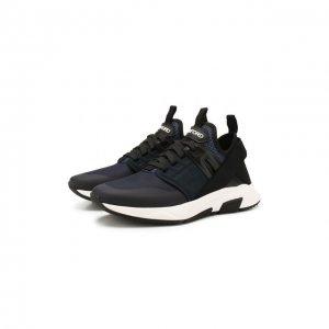 Текстильные кроссовки Tom Ford. Цвет: синий